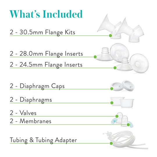 Advanced Double Electric Breast Pump Replacement Parts Kit | Evenflo